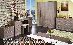 Walnut Furniture Bedroom by Toronto Walnut Bedroom Range 14 Colour Combinations Available