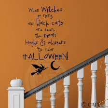 halloween wall art amazon com when witches go riding and black cats are seen the