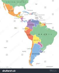Political Map Of South America Latin America Single States Political Map Stock Vector 495113257