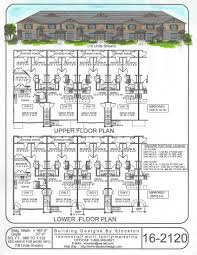 6 plex 44x67 apartment house plan ideas pinterest building
