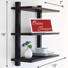 onlineshoppee nivel floating wall shelf black amazon in home