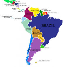 Map Of The South America by South America Continent South America Map List Of Countries In