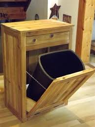 trash cans wood garbage can holders wooden trash can holder for