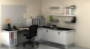 compact corner desk and white file cabinets also floating shelf