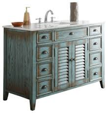 Shabby Chic Bathroom Vanity by Abbeville 47 Inch Bath Sink Vanity Cf 28885bu Shabby Chic Bathroom