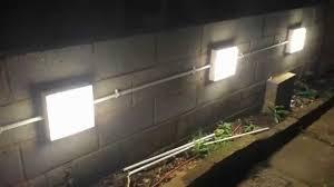 Outdoor Mushroom Lights by Installing Garden Wall Lights Youtube