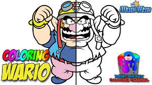 wario coloring pages daring mario coloring pages yoshi free wario