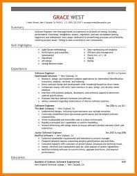Resume Samples Of Software Engineer by 10 Sample Software Engineer Resume Basic Resume Layouts