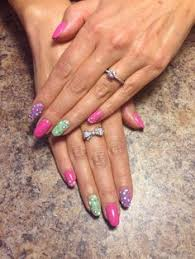 modest stilettos with an accent nail stilettonails nails