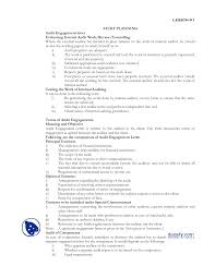 audit planning fundamentals of auditing lecture notes