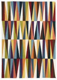 Coloured Rug Munich Multi Coloured Geometric Flatweave Kilim Rug