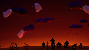 halloween screensaver for iphone halloween cute ghosts village wallpaper for iphone 4
