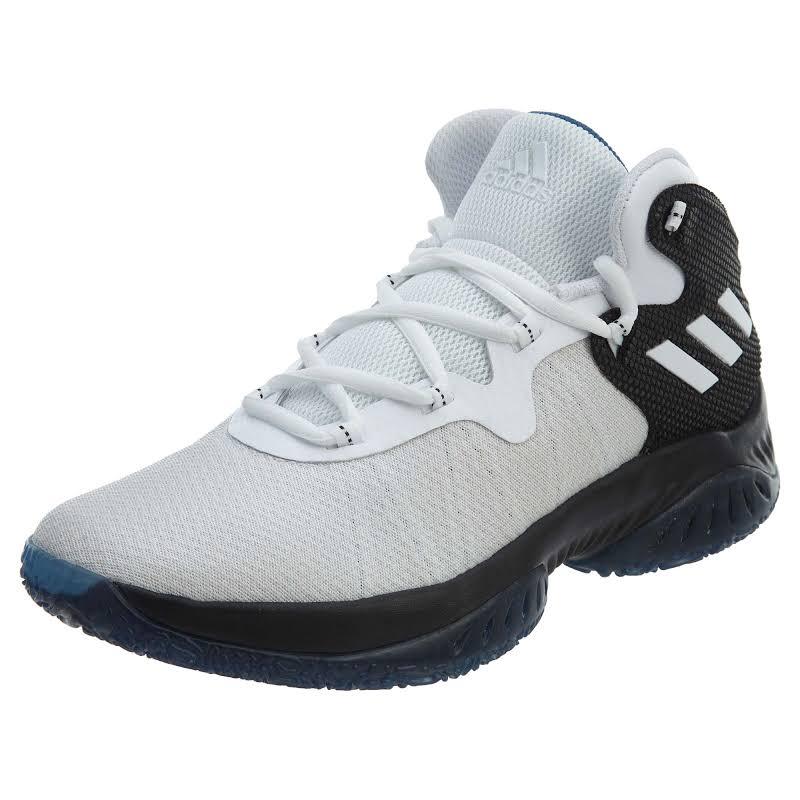 Adidas Explosive Bounce Core Black / Footwear White Capital Blue High-Top Basketball 6M