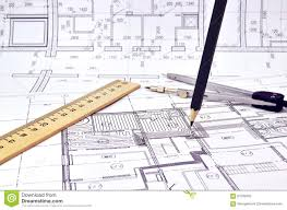 drawing a floor plan of the building stock photo image 67035603