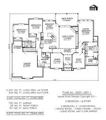 Two Story House Floor Plans Plan No 2681 0811