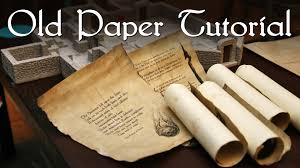 old style writing paper old paper tutorial youtube