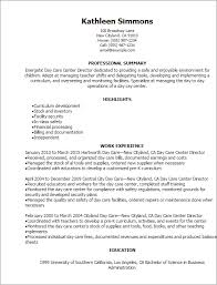 Example Server Resume by Outstanding Daycare Resume 4 Resume For Daycare Resume Example