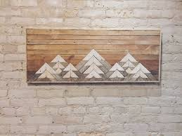 Wood Decor by Reclaimed Wood Wall Art Wall Decor Twin Headboard Lath