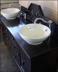 Photo Of Top View Antique Bathroom Vanity Black Shabby Chic - Black bathroom vanity with vessel sink