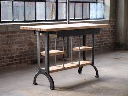 buy a custom maple modern industrial kitchen island console