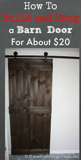 Sliding Barn Closet Doors by How To Build And Hang A Barn Door For Around 20 Barn Doors