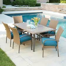 Martha Stewart 7 Piece Patio Dining Set - hampton bay corranade 7 piecec wicker outdoor dining set with