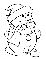 snowman coloring pages olegandreev me
