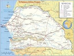 Map Of Mali Africa by Political Map Of Senegal Nations Online Project