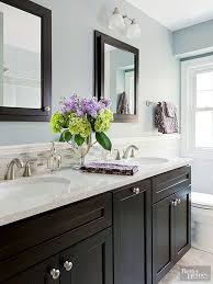 Backsplash Bathroom Ideas Colors Best 25 Dark Vanity Bathroom Ideas On Pinterest Dark Cabinets