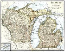 Detroit Michigan Map by Wisconsin And Michigan Map Michigan Map