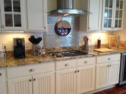 Mosaic Tiles For Kitchen Backsplash Kitchen Style Stainless Steel Glass Chimney Range Hood And Stove