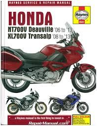 h5541 honda nt700v deauville u0026 xl700 transalp repair manual