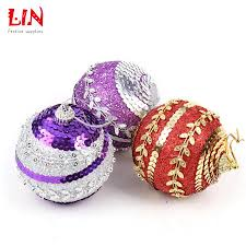 8cm sequins glitter christmas ornaments tree pendant decoration
