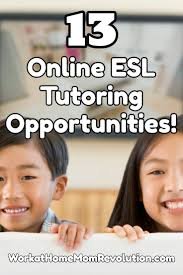 Tutoring Job Resume Work At Home 13 Online Esl Tutoring Job Opportunities