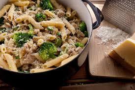 Pasta Recipes Creamy Pasta With Chicken Sausage And Broccoli Recipe Chowhound