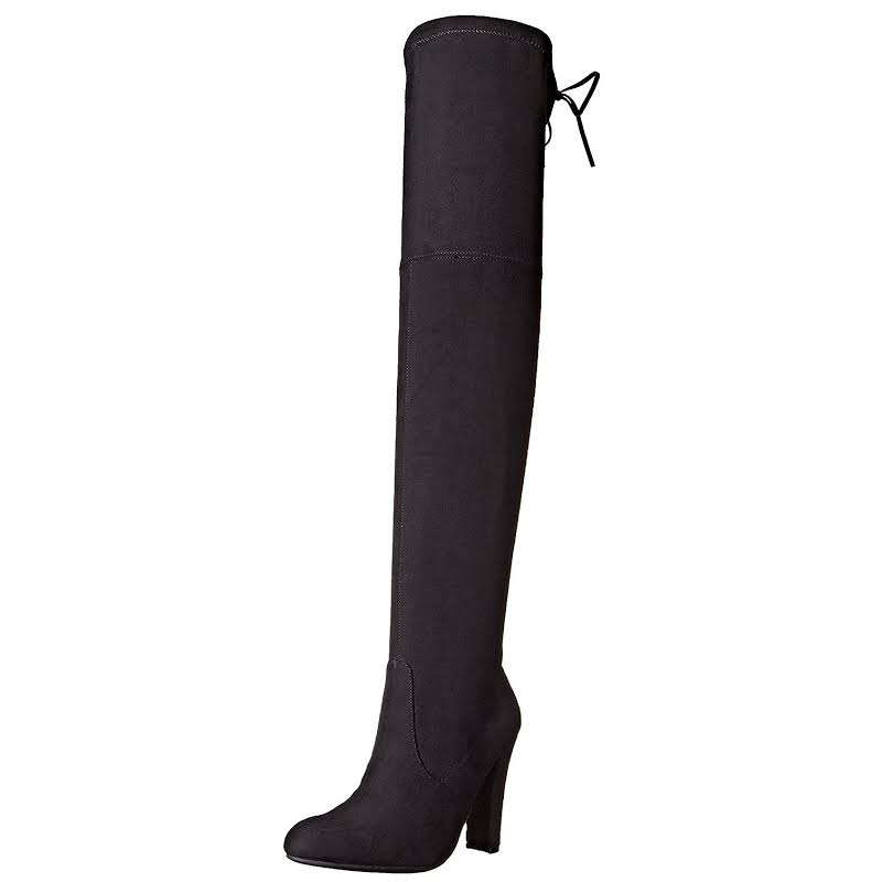 Steve Madden Gorgeous Over The Knee High Boots Black 9 M
