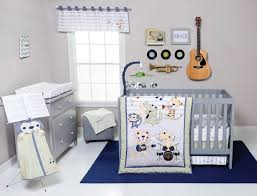 Monkey Crib Set Trend Lab Safari Rock Band 6 Piece Crib Bedding Set