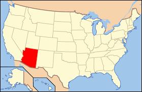 Antelope Canyon Arizona Map by Geography Of Arizona Wikipedia