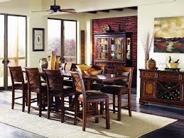 counter height kitchen tables dining room traditional with brown