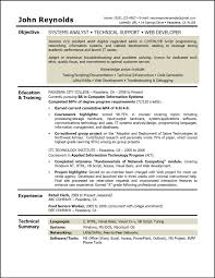 Sample Resume Objectives For Web Developer by Bachelor Degree Resume Sample Resume For Your Job Application