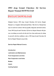 1993 jeep grand cherokee zj service repair manual download