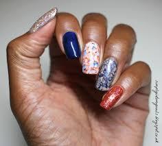 dark navy u0026 burnt orange simply into my nails