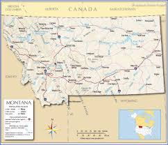 Political Map Of United States And Canada by Reference Map Of Montana Usa Nations Online Project