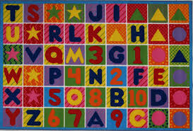 Multicolor Rug Amazon Com La Rug Numbers U0026 Letters Rug 8 U0027x11 U0027 Kitchen U0026 Dining