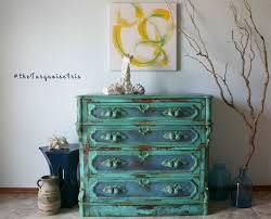 Hand Painted Furniture by The Turquoise Iris Furniture U0026 Art Gorgeous Vintage Turquoise