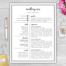 Creative Resume Template and Cover Letter Template for Word   DIY Printable  Resume   Pack   Modern   Page Design Eps zp