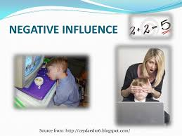 Influence of Internet SlideShare NEGATIVE INFLUENCESource from  http   www iearn org