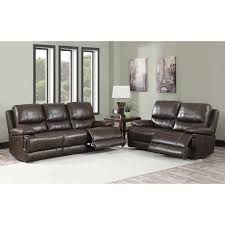 Costco Living Room Brown Leather Chairs Maren 2 Piece Top Grain Leather Reclining Set