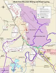 Canyonlands National Park Map Moab Mountain Biking Trails Moab Mountain Bike Trail Information