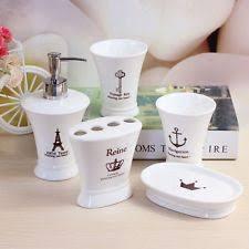 White Bathroom Accessories Set by White Bath Accessory Sets Ebay